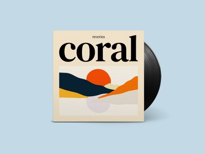 Reveries »Coral« Single Cover moon music art typography musician printdesign pastel colors music cover illustration artwork branding branding design design art direction
