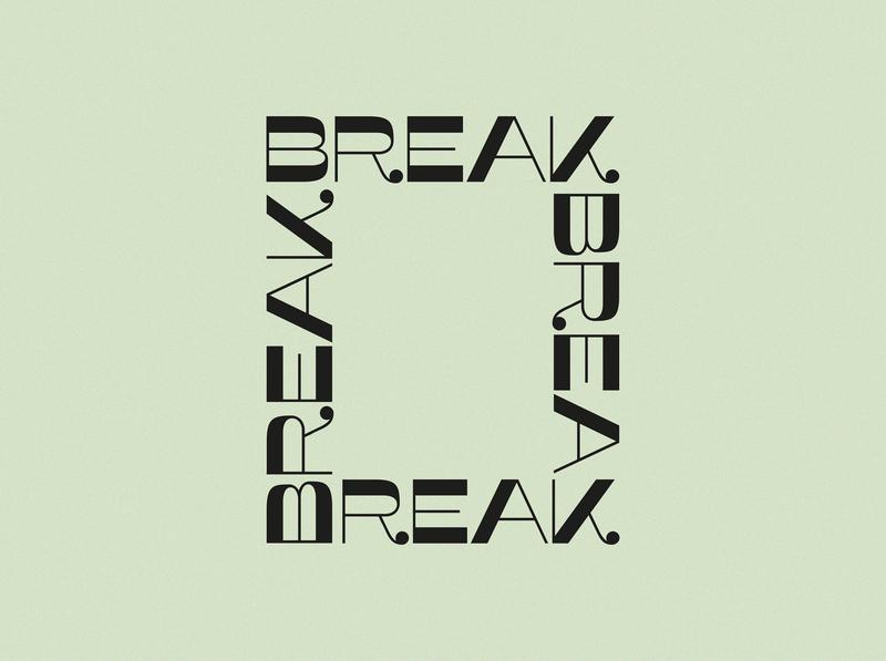 Take a break logo logo design design graphic design pastel color pastel reminder typography design typography logo typo typography