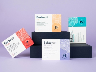 Packaging / Baktokult illustation typography healthcare packagingdesign packaging design packaging corporate branding printdesign logo design branding design art direction branding design