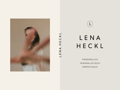 Design for Lena Heckl Photography branddesigner pastel colors photography logo photography branding typography logo corporate branding logo design art direction design corporate design branding brand design