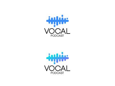 Vocal Podcast Logo Design minimalist logo logo logodesign podcast logo