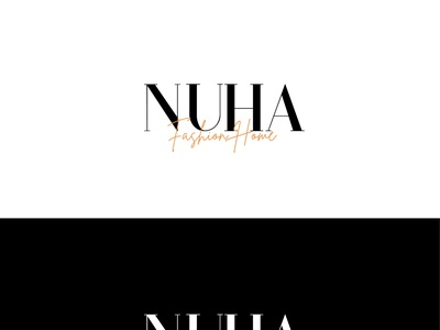 Nuha Fashion Home Logo Design. typography logodesign minimalist logo branding logo