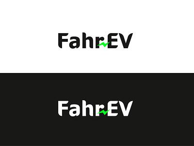 Fahr-EV Logo branding minimalist logo logo logodesign energy current logo electric logo
