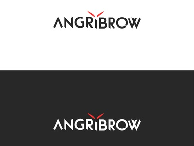 Angrybrow Logo design eyebrowlogo angrybrow angrylogo modernlogo minimalist logo logodesign logo