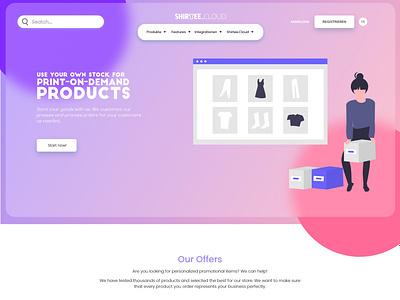 Shirtee UI Design modernui uidesign branding ui
