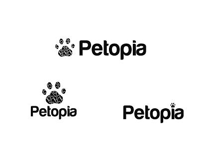 Petopia Logo Design pet footprint footprint logo graphic design branding minimalist logo logodesign logo shop logo pet logo