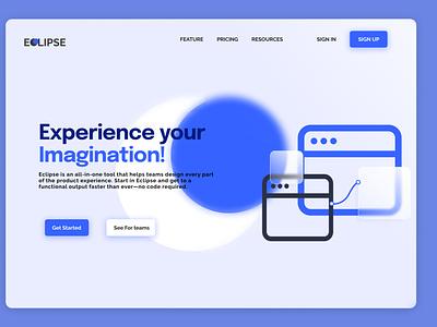 Eclipse Landing Page UI Design homepage webdesign landing page design ui design ui