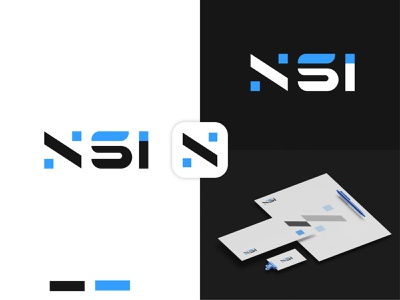 NSI Modern Logo modern logodesign minimalist logo modernlogo branding logo