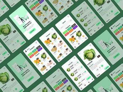 Grocery App UI design mobileui appui groceryapp grocery userexperience appdesign mobile branding graphic design ui