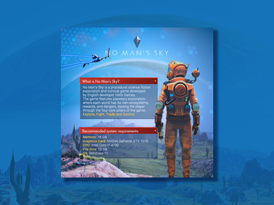 About No Man's Sky... space videogame sci-fi banner design games banner illustration design