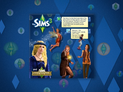 The Sims 3 (2009) photoshop simulator illustration ui sims 3 the sims design videogame games banner design