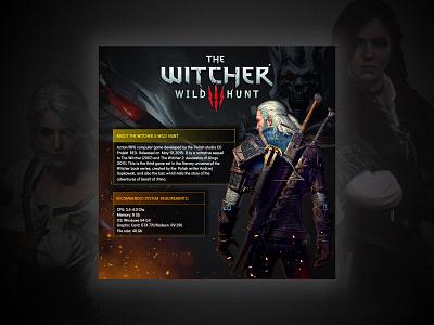 The Witcher: Wild Hunt wild hunt action rpg illustration videogames banner photoshop witcher games banner design design