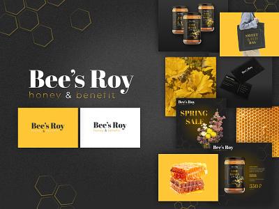 Brand design for honey business bee brand identity honey branding logo design