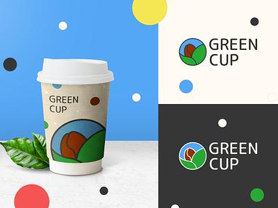 Vegan-coffee - GreenCup graphic design vegan coffee branding logo design