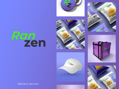 Logo for delivery service packaging delivery service logo design logotype brand identity ranzen branding identity logo design