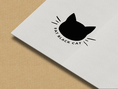 Black Cat Logo illustration animation logo vector illustrator branding typography minimal design creative logo
