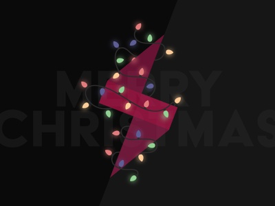 Merry Christmas! glow christmas digital activate icon vector branding logo illustration design
