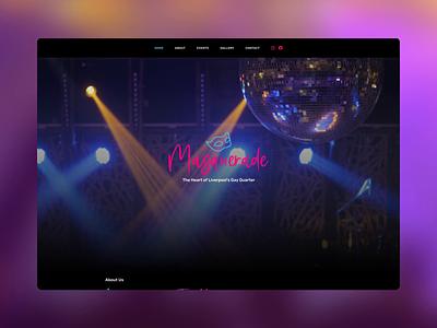 Masquerade colour pride2020 pride webdesign website ux ui digital design