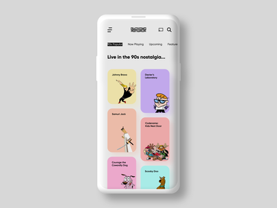 CARTOON NETWORK APP UI minimalistic minimal uxdesign uidesign design ux ui neumorphic clean ui app cartoon network