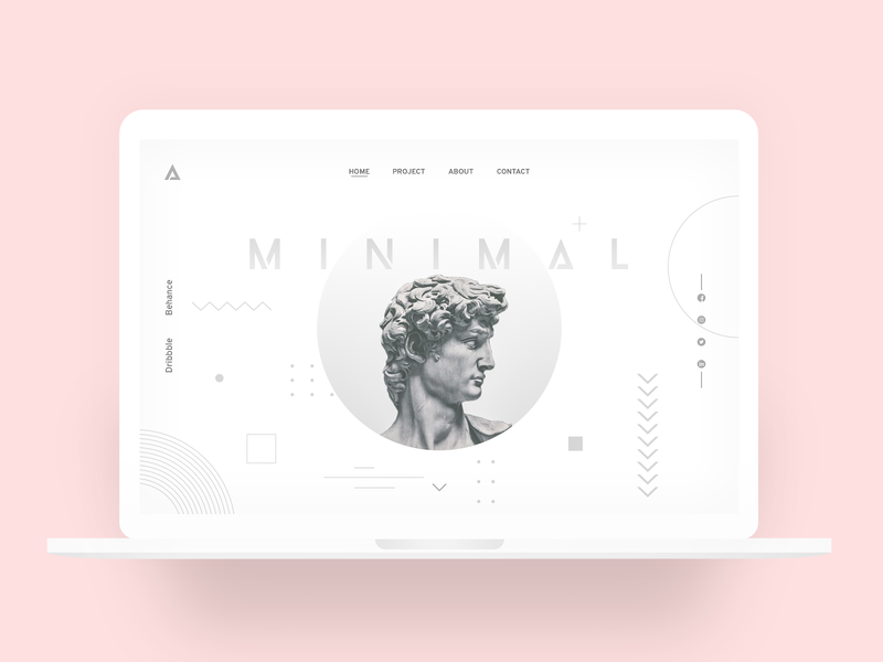 MINIMAL DESIGN PORTFOLIO websiteui website design webui website uxdesign uidesign minimalistic minimal design ux ui clean ui