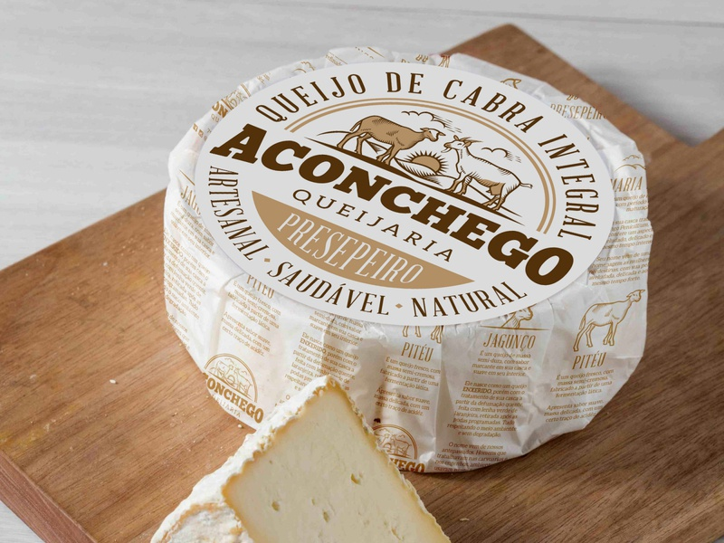 Cheese Shop Aconchego package design packaging vector design logo brand identity illustraion graphic design