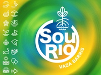 Sou Rio - Logo and pictograms designs pictogram graphic design visual identity brand identity brand design logo design logo