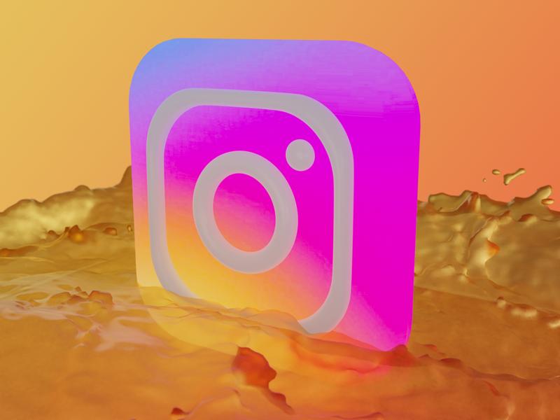 3D Instagram Icon design instagram icon blender 3d
