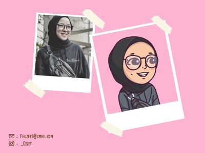 Nisa Sabyan Cute Avatar vectorface vector sketch cartoon avatar simple fanart singer socialmedia custom avatar cartoon caricature illustration avatar personal avatardesign avatar adobe illustrator cute chibi