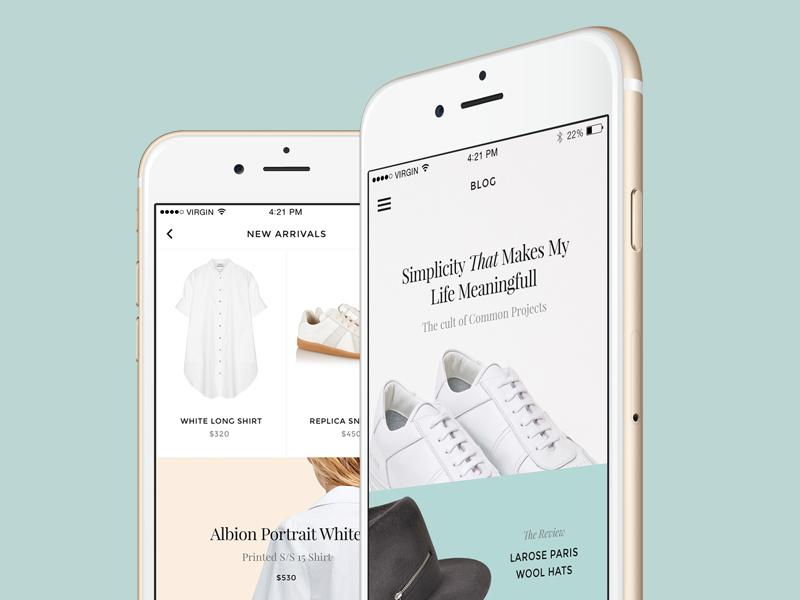 Monobrand iOS UI Kit  ui kit sketch ios app template