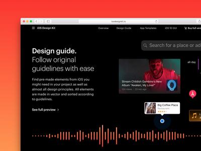 iOS Design Kit New Website  🌱 hig ui design kit ui kit gui ipad iphone ios