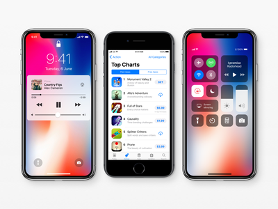 iOS 11 GUI – Giant udate 🌋 (iPhone X version included) iphone 8 iphone x ios 11 gui iphone ios sketch templates