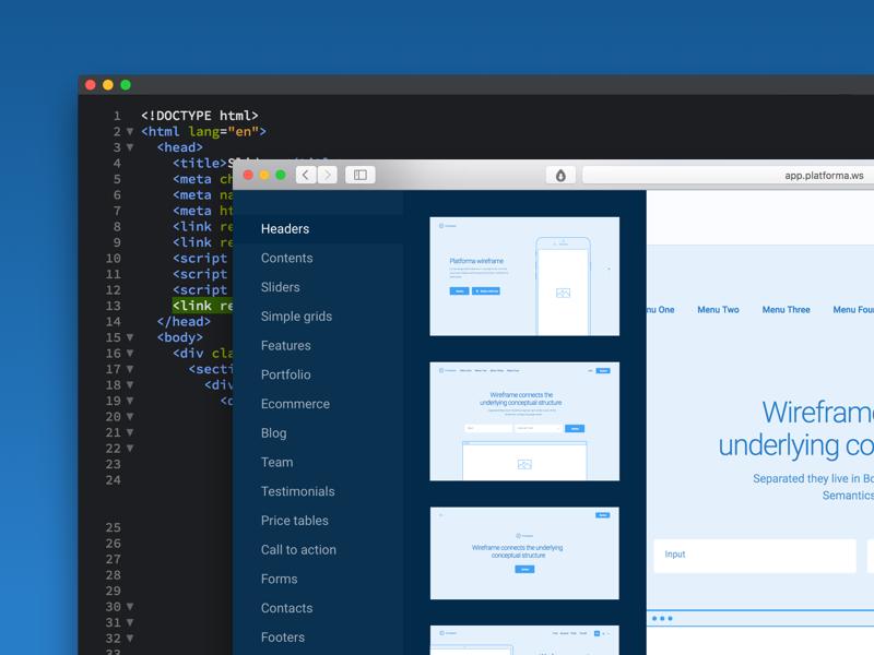 Platforma html dribbble