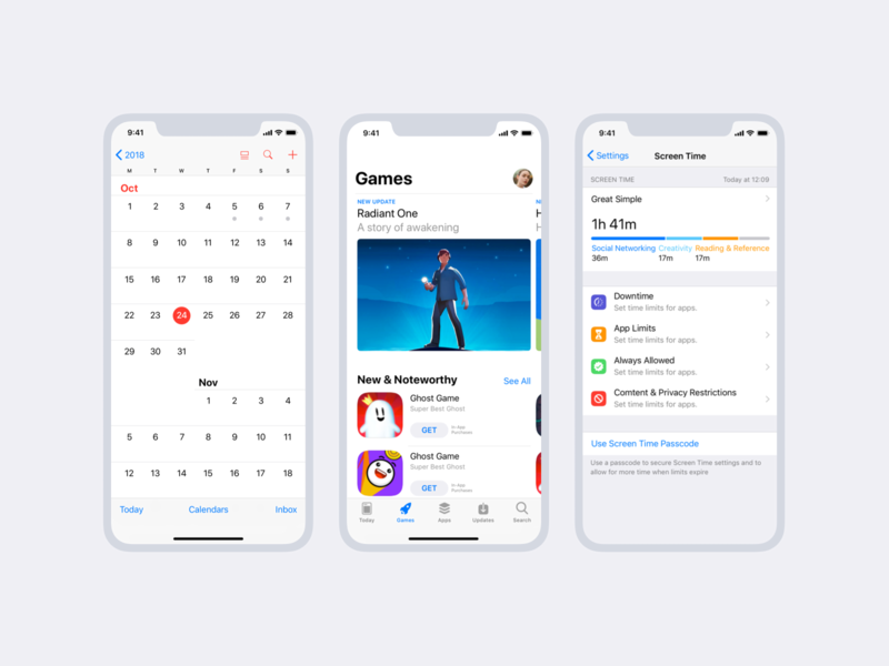 iOS 12 GUI for Sketch, Figma and Adobe Xd – Free download by