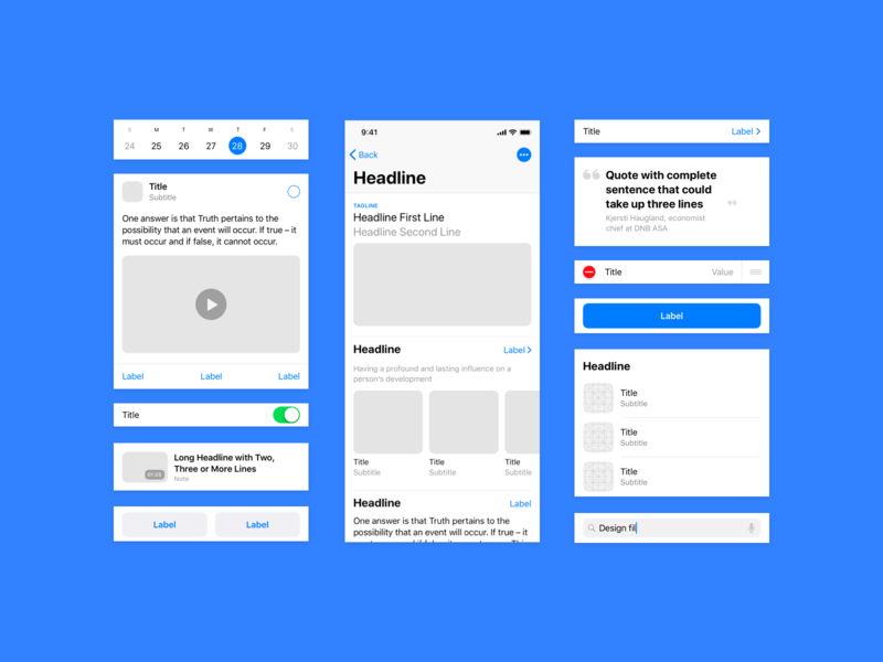 iOS Native Wireframs – Last hours with 60% off discount ios12 iphone gui elements sketch app ui ios ui kit wireframe