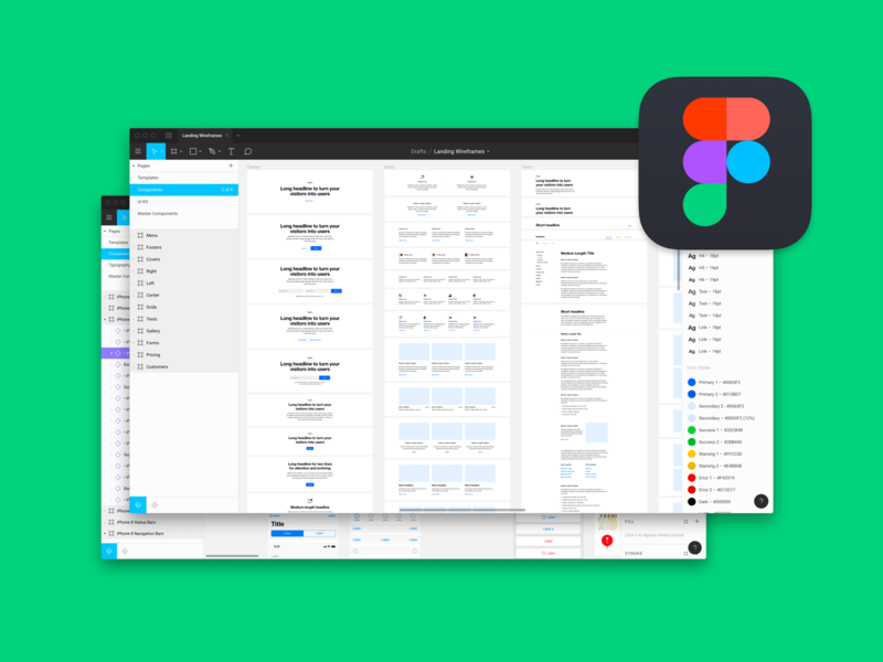 Improvements for Figma versions of wireframes on Design Files elements ux ui prototype figma wireframes