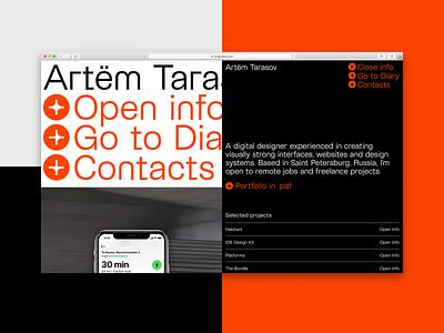 Taragraphy.com – Updated grid typography webflow web deisgn