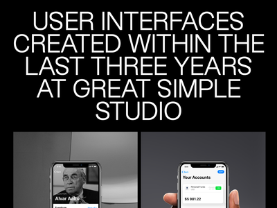 Mobile UI projects from the last three years – Behance android ios ux ui