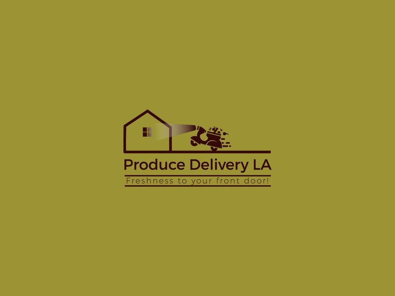 Produce Delivery LA2 minimal illustrator art illustration icon vector logo design branding