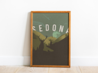 Sedona Poster vector illustration