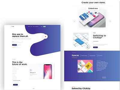 Click up ui design ui design color trending clickup website uiux illustration mockup ui