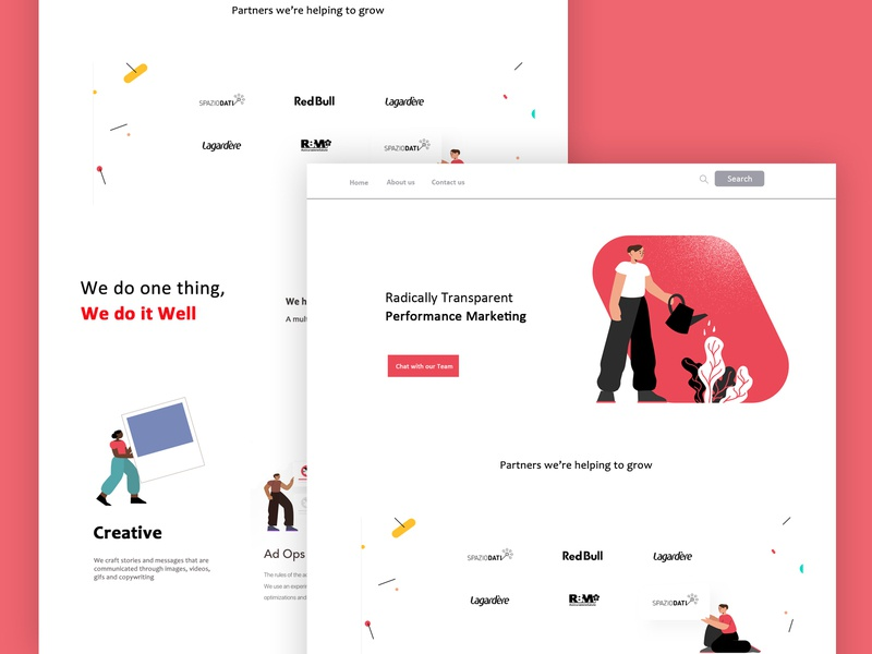 Information ui design mockup minilalist color learn practice web designer uiux illustration website design ui