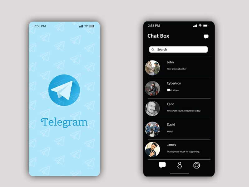 Telegram layout vector app telegram branding layoutdesign layout typography icon ux ui minilalist illustration