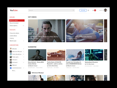 Youtube Redesign (Concept)