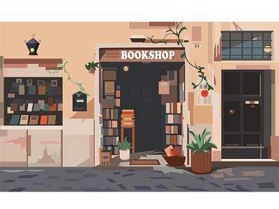 BOOKSHOP design vector illustration