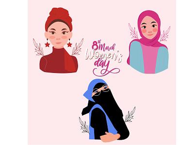 Happy International Woman's Day design vector illustration