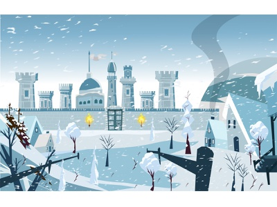 Background snow design illustration