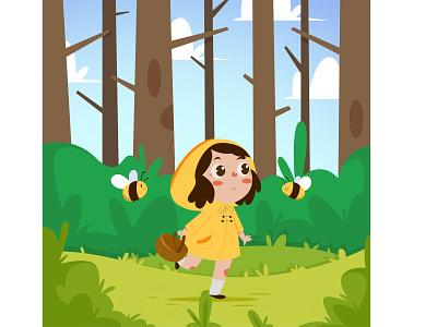 Magic Forest vector graphic design illustration