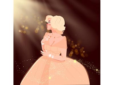 Billie eilish at the Met Gala 2021 vector motion graphics illustration