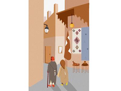 Morocctober graphic design art design moroccoillustration vector illustration
