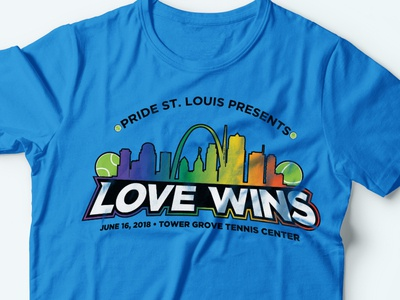 Tennis Tournament Merchandise pride month pride love queer lgbtqia lgbtq rainbow stlouis stl sports design sports tennis merchandise design merchandise logo design adobe illustrator adobe illustration